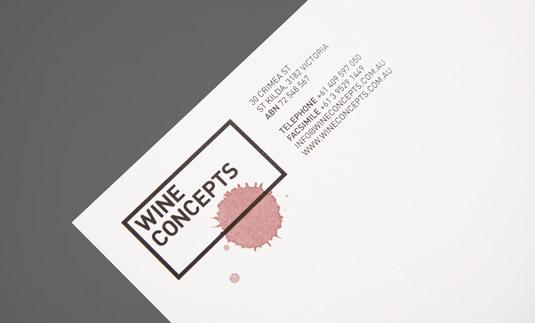 Letterhead designs: Wine Concepts