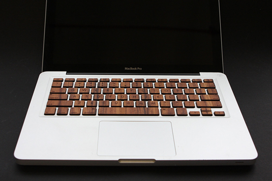 Wooden Macbook keyboard 1