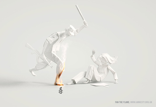 Fan the Flame print ad campaign