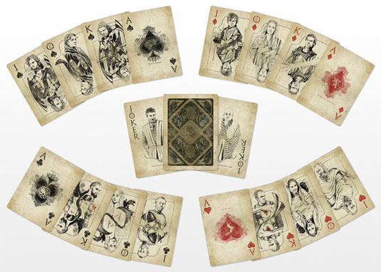 custom playing cards: game of thrones designs