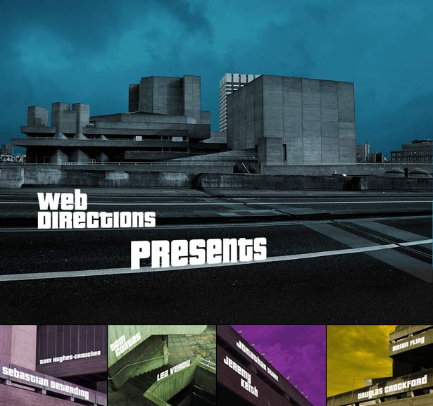 Not my typical web project, but certainly my favourite this year -- this is the storyboard of the opening sequence to Web Directions London 2011, animated with HTML and CSS3, created with Animatable
