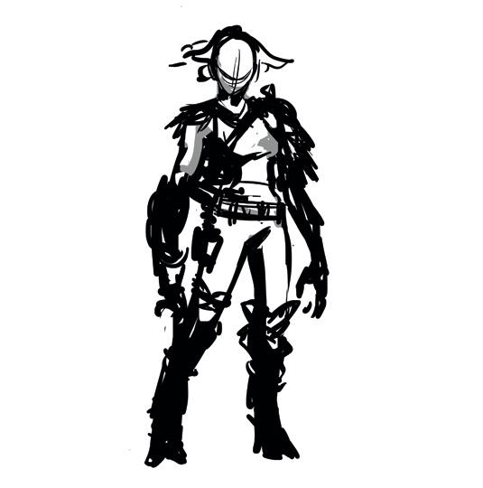 sketch scifi