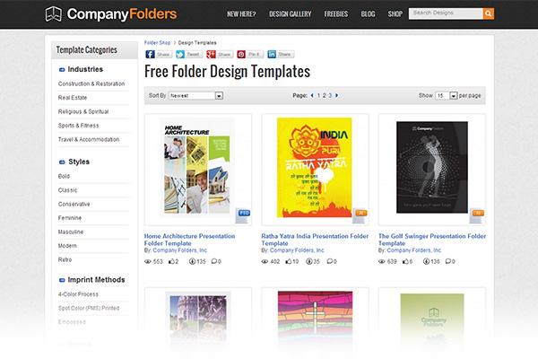 Free print design templates Company Folders