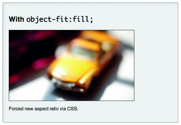Object-fit: fill; overrides default behaviour, making videos take on the set width and height of their <video> elements