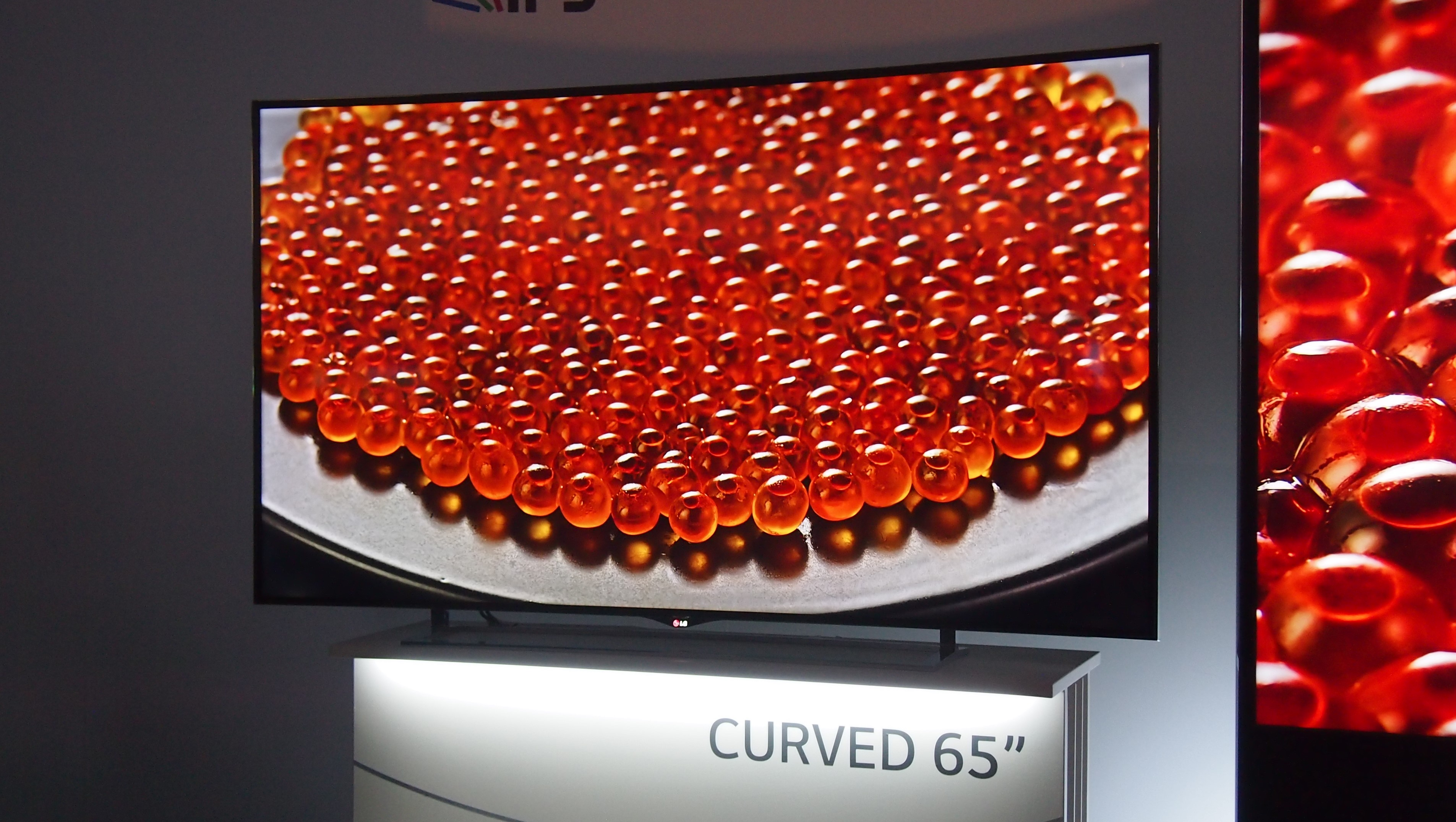 lgu0027s 105inch curved 5k tv will arrive this year for a price techradar - 65 Inch Curved Tv