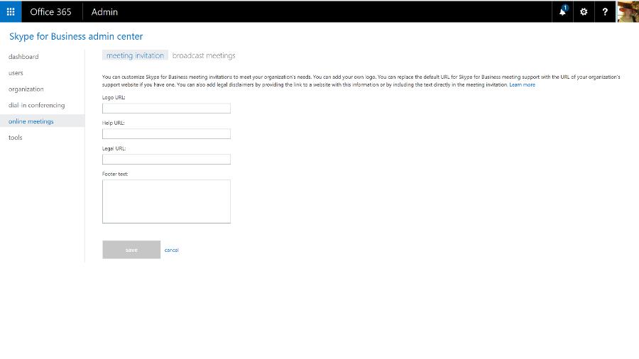 Skype for business custom
