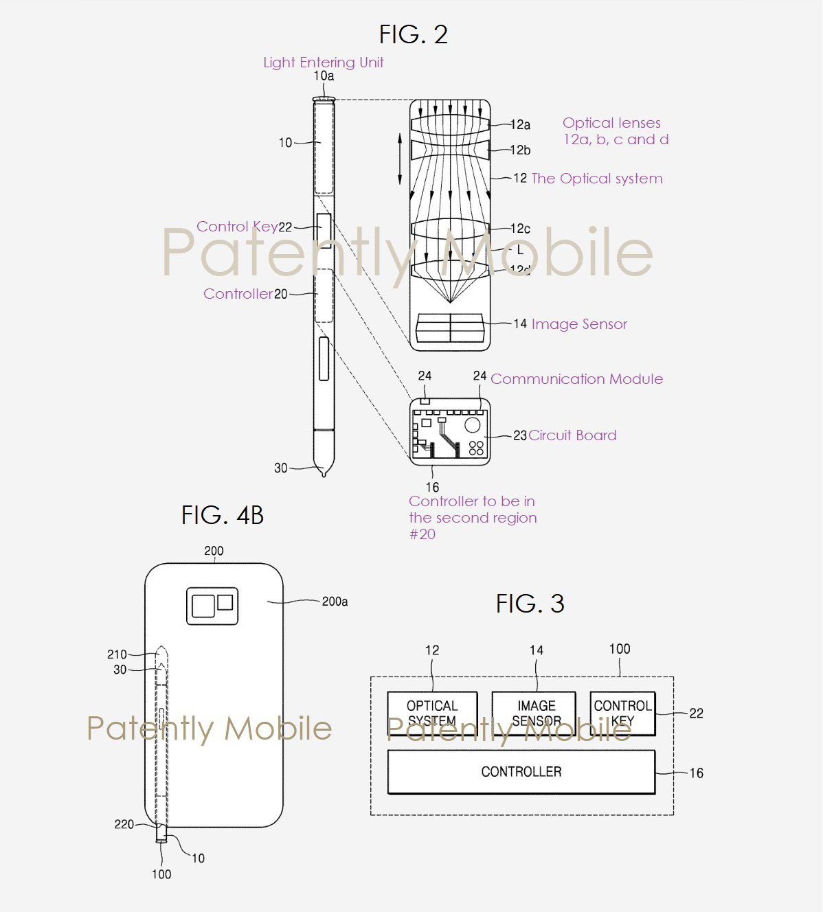 Samsung patents S Pen featuring built-in camera with optical zoom