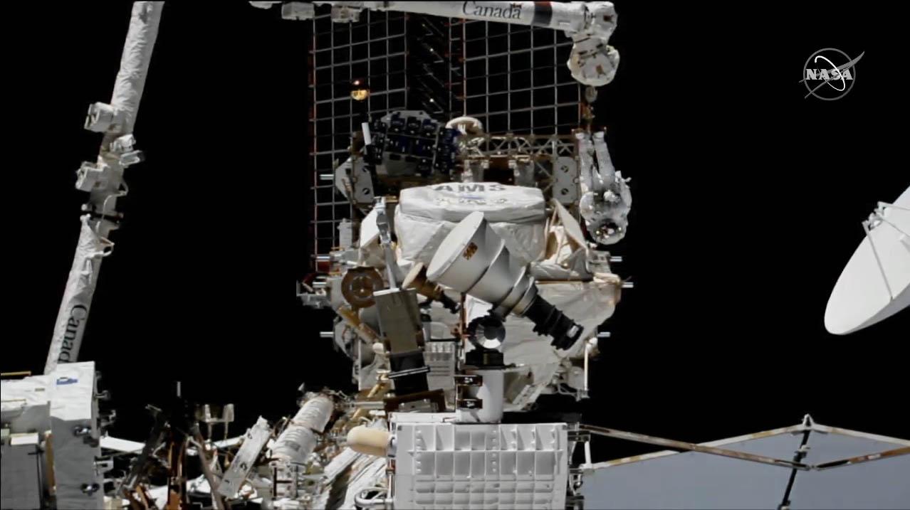 Astronauts complete 4-spacewalk marathon to fix space station's $2 billion antimatter detector