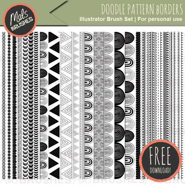 Best Illustrator brushes: pattern