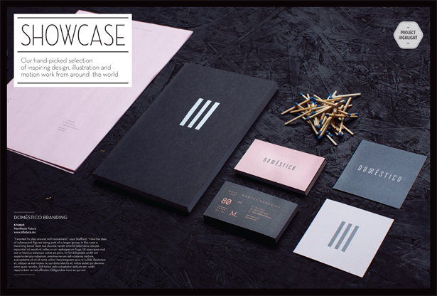 Sample spread from Showcase section of the all-new Computer Arts
