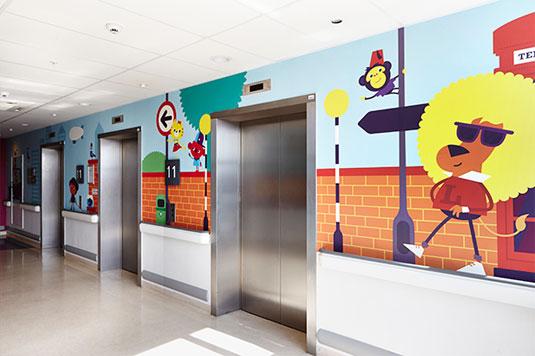 University College Hospital mural