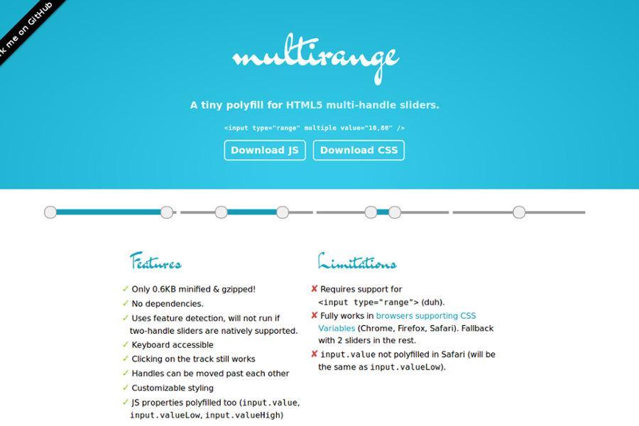 web design tools: Multirange