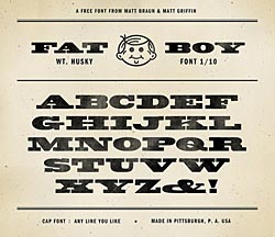 Bearded wood type fonts