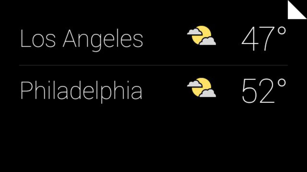Google Glass weather app