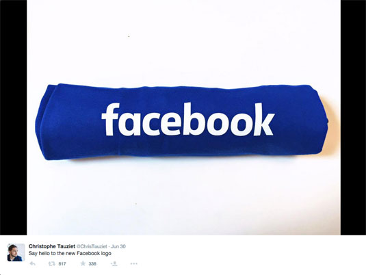 Facebook logo Tweet
