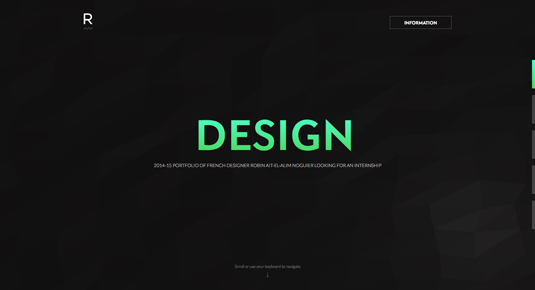 Web design portfolios - Robin Ait-el-alim Noguier