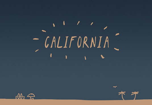 Free hnadwriting fonts: California Sans