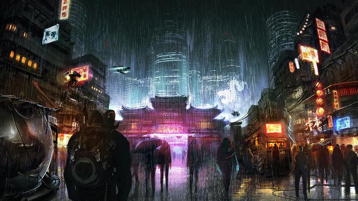 harebrained schemes releases first concept art for new shadowrun game pc gamer. Black Bedroom Furniture Sets. Home Design Ideas