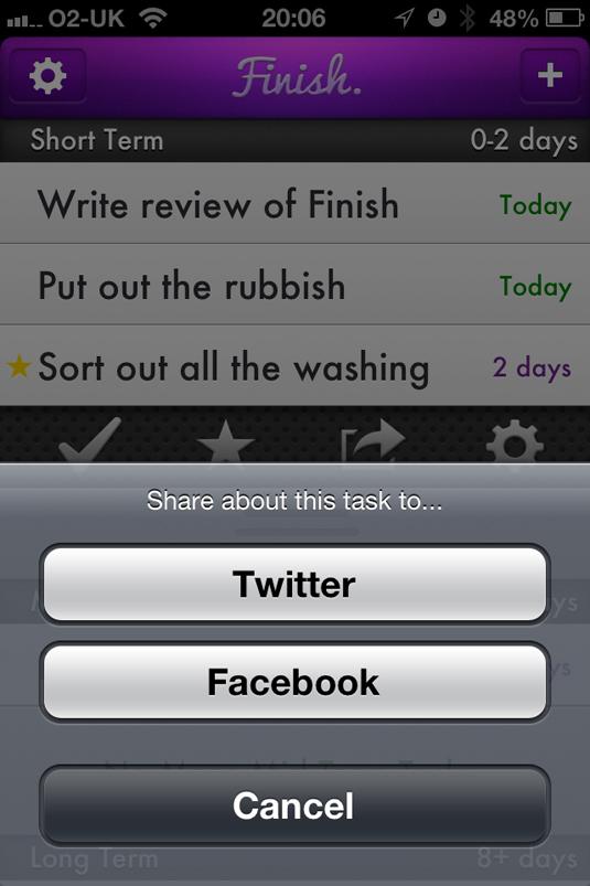 finish app