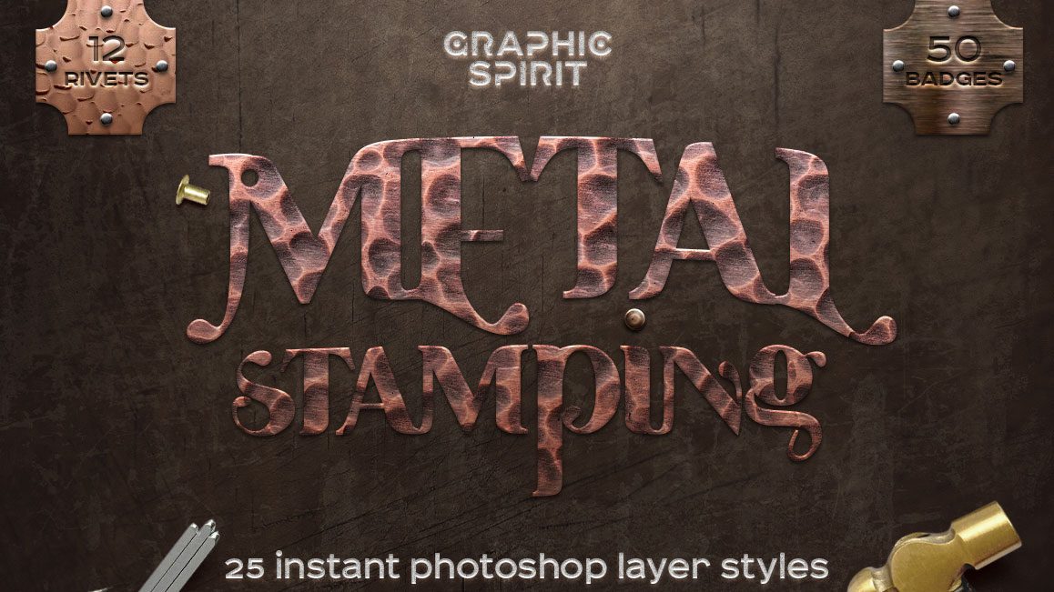 Best graphic design tools for May: metal stamping styles