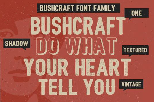 Free fonts: Bushcraft