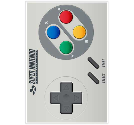 iPhone app designs: SNES UI