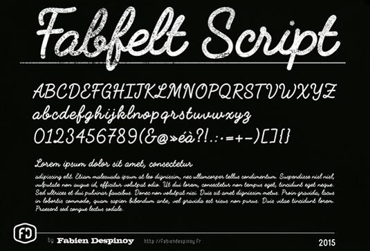 Free font: Fabfelt