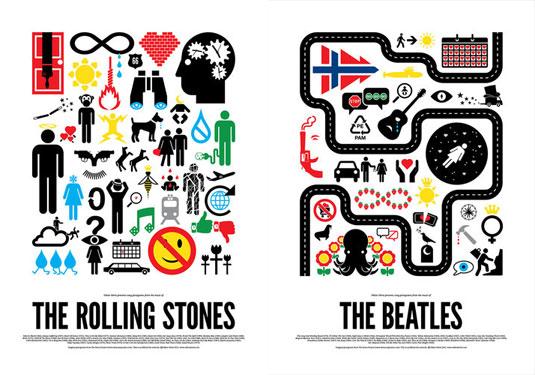 pop music pictograms