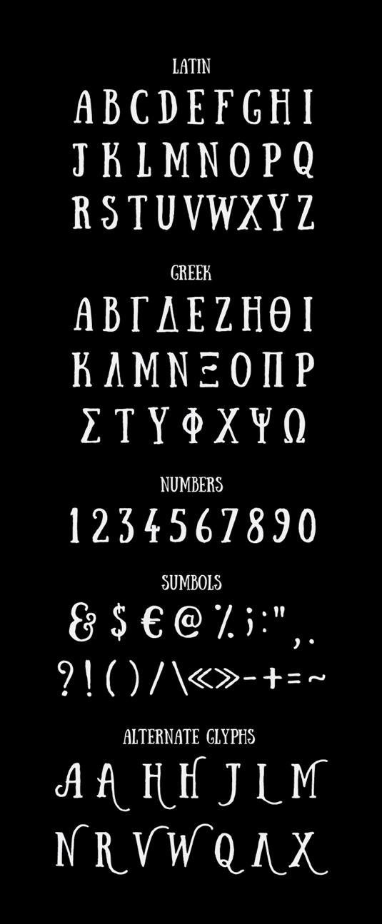 Free font: Sunday