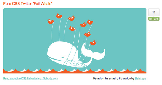 CSS3 animation: Fail Whale