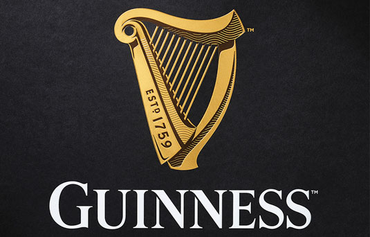 Guinness logo and flat design