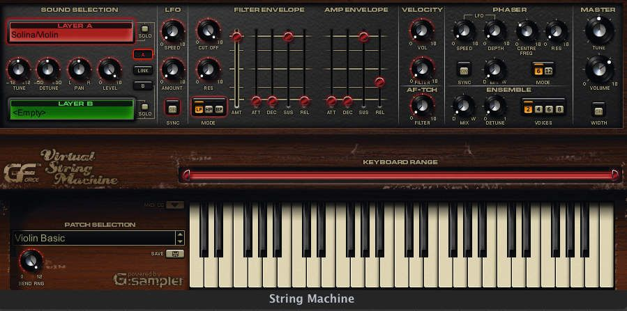 gforce string machine