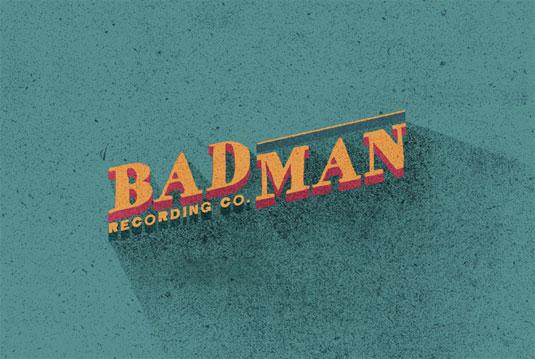record label logos: badman