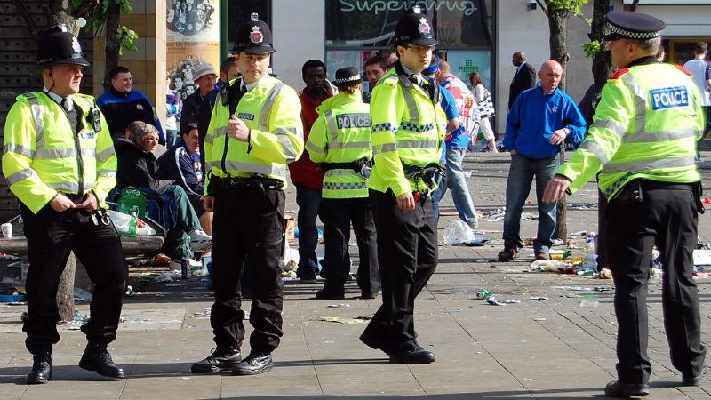 British police, cops, security