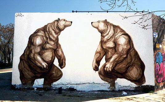 examples of street art: Jaz