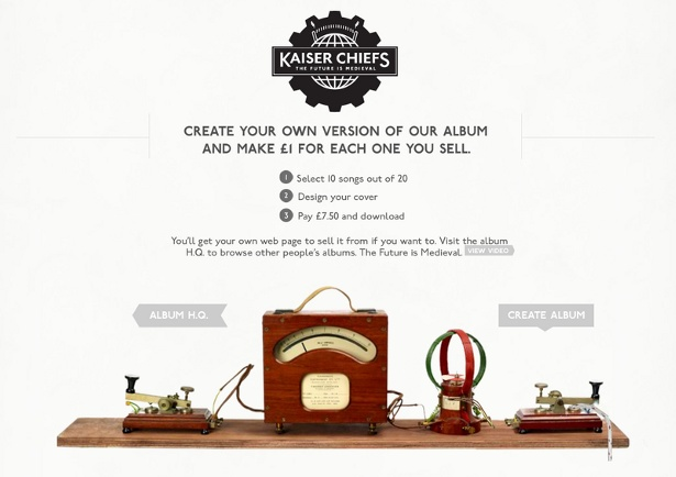 The Kaiser Chiefs Bespoke Album Creation Experience