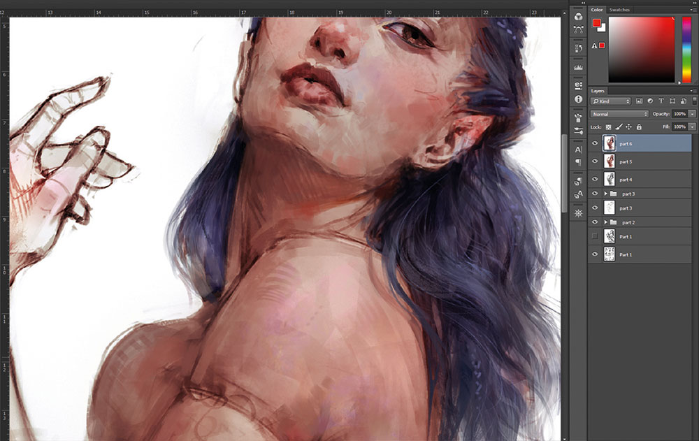 How to create a believable character - Painting realistic hair