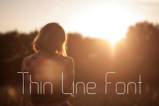Free fonts: Thin Line