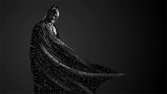 superhero and villain typography