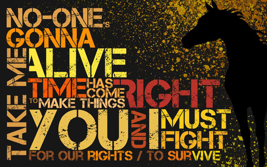 Typography wallpapers: Knights of Cydonia