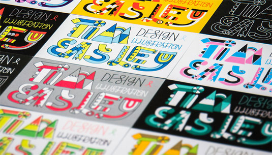 Tim Easley's beautifully designed business cards