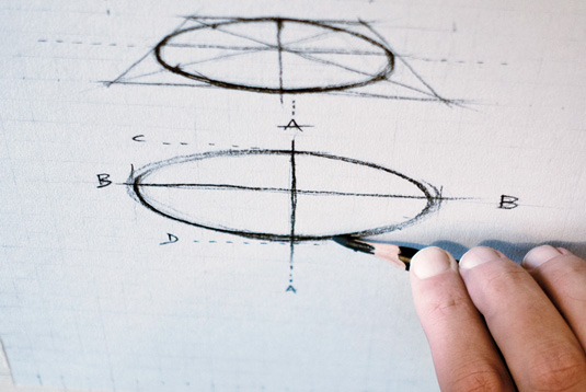 How to draw basic shapes: ellipse
