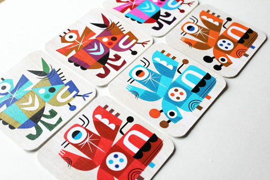 inky goodness beermat characters