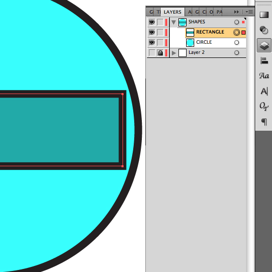 vector illustration: layers