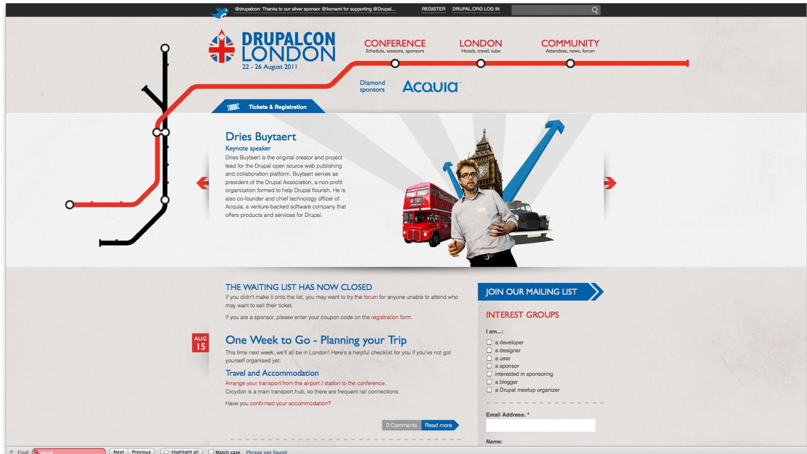 Drupal comes to town: DrupalCon London features a ton of sessions, talks and workshops