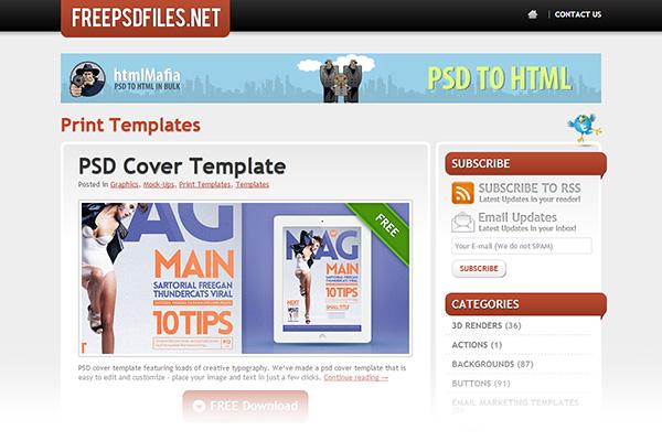 Print templates FreePSDFiles.net