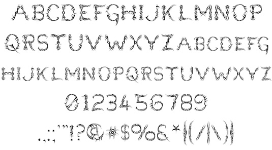 Tattoo fonts: Lupus Bright