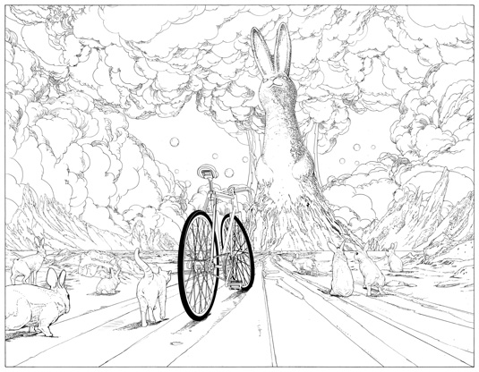 Review: The Bicycle Colouring Book