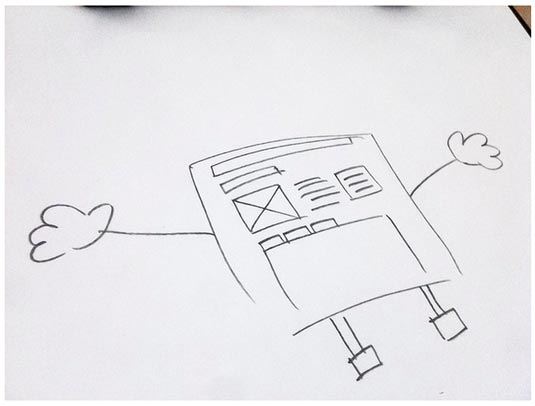 Photo of UI sketch