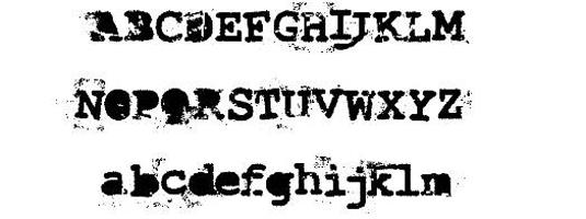 Free typewriter font: Last Draft Font